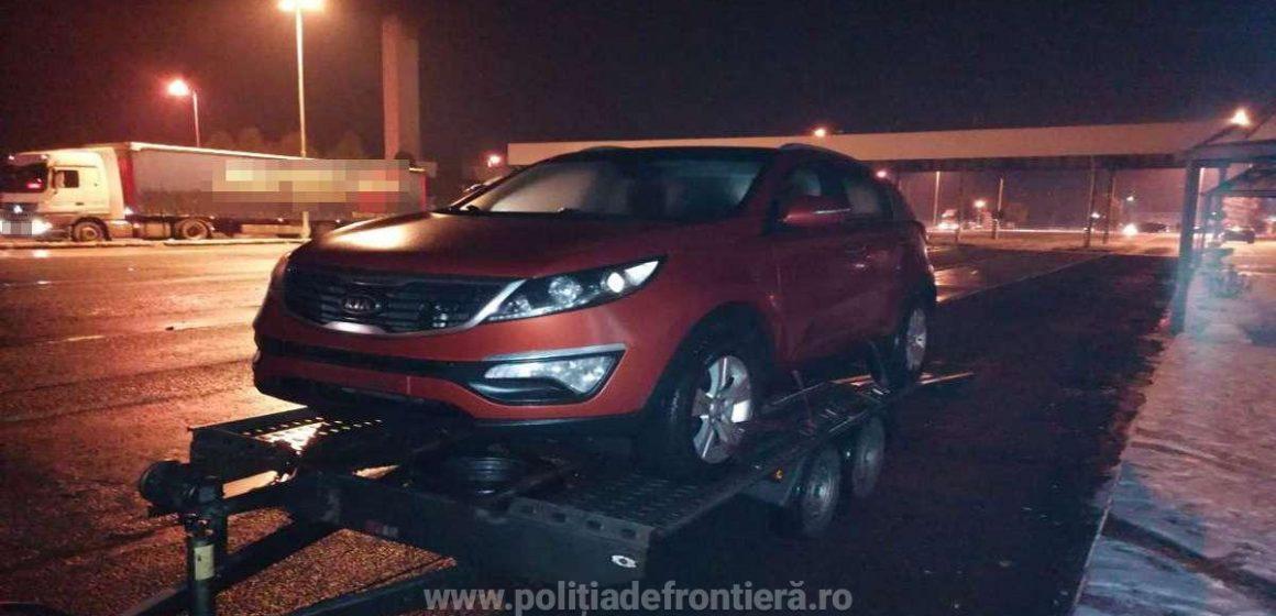 Mașină căutată de autoritățile franceze, găsită la graniță de lucrători ai ITPF Sighetu Marmației