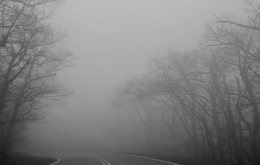 Vizibilitate redusa de ceata, sub 100 de metri, pe DN18, in Pasul Prislop