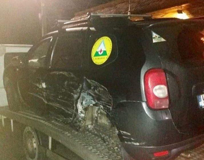 VIDEO | Mașina de intervenție a salvamontistilor din Maramureș, accidentată în trafic