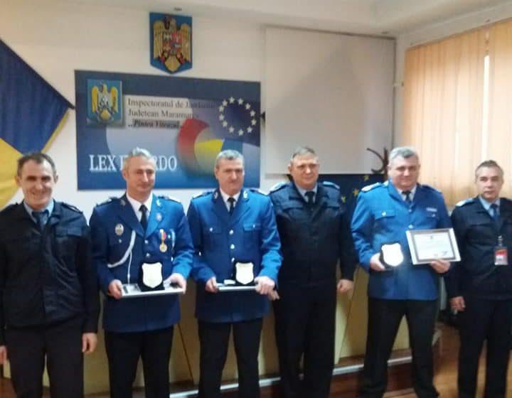 VIDEO | Jandarmii și-au luat rămas bun de la trei colegi care au trecut în rezervă