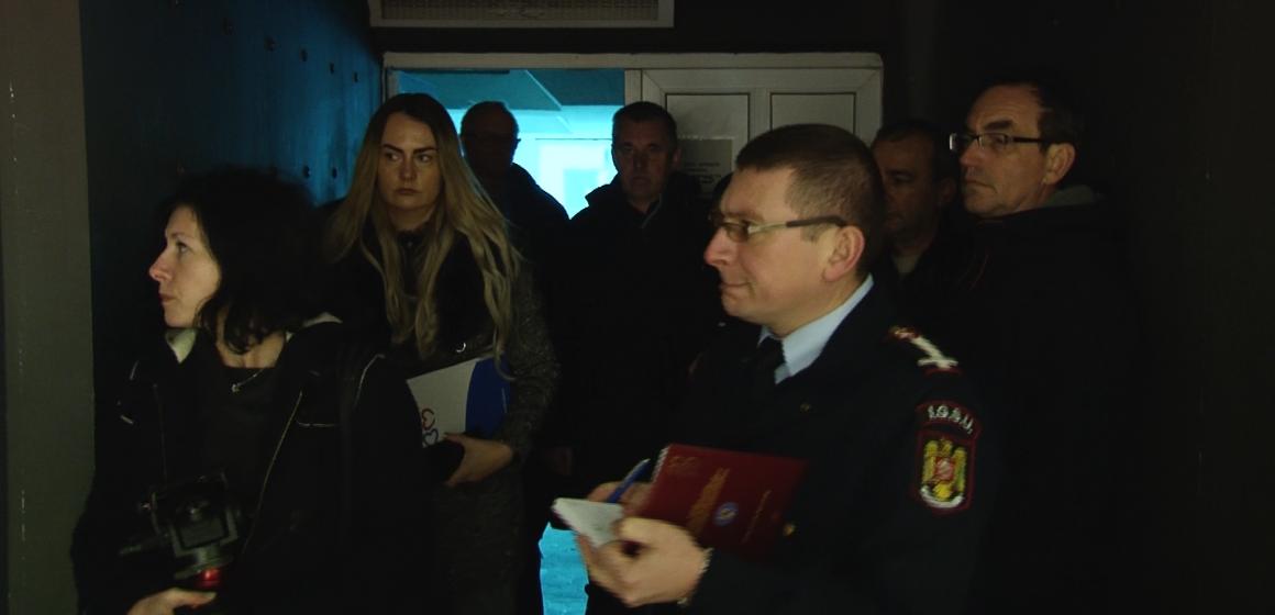 VIDEO | Controale ample la Casa de Cultură a Sindicatelor din Baia Mare după ce a luat foc
