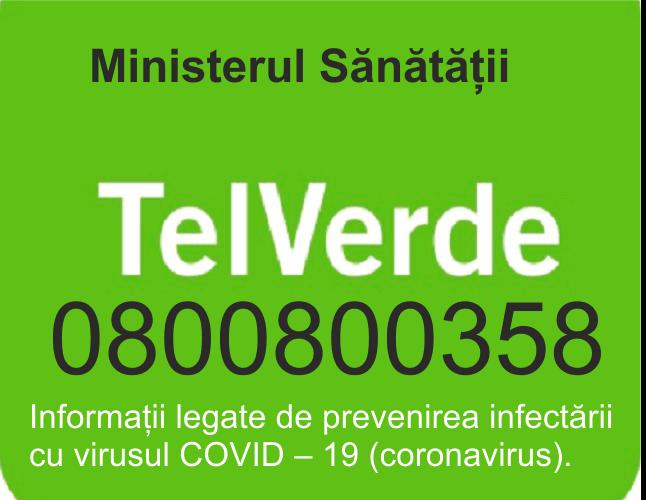 VIDEO | TEL VERDE pus la dispoziția cetățenilor pentru mai multe informații despre coronavirus