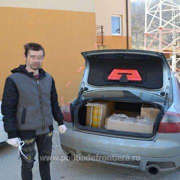 VIDEO | Prins cu ocaua mică – și cu portbagajul plin cu țigări de contrabandă