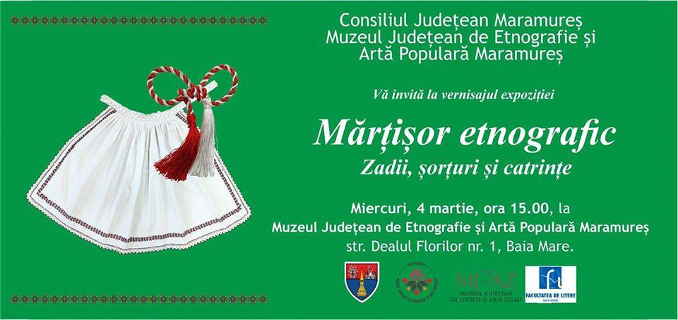 """Expoziție dedicată """"Mărțisorului"""", la Muzeul Județean de Etnografie și Artă Populară Maramureș"""