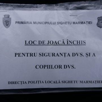 Primăria Sighetu Marmației a luat decizia închiderii tuturor locurilor de joacă din oraș