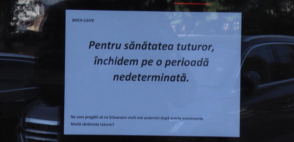 VIDEO | Localurile publice – activități suspendate