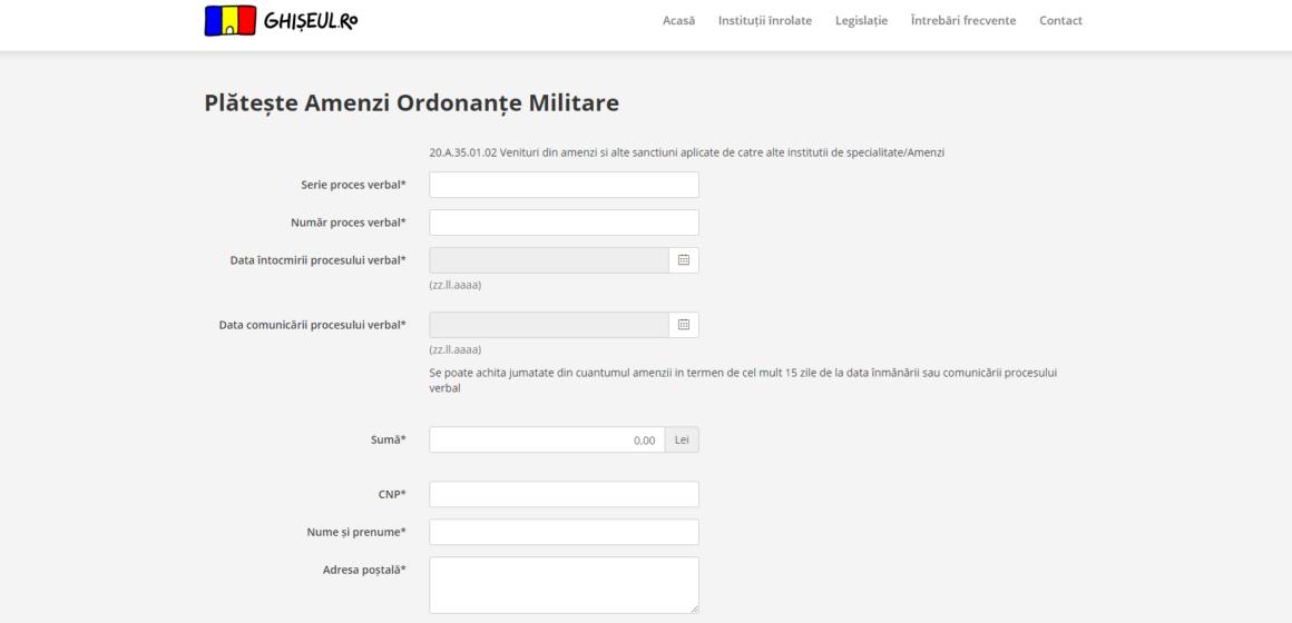 VIDEO | Plata amenzilor pentru încălcarea prevederilor ordonanțelor militare poate fi făcută și online