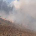 ( FOTO ) Incendiu de vegetație uscată în Ieud
