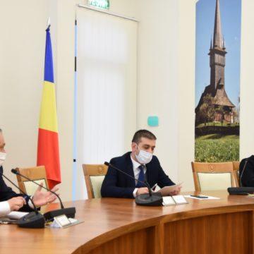 Discuții la Consiliul Județean Maramureș privind luarea unor măsuri postpandemie pentru dinamizarea economiei