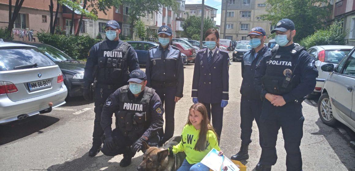 VIDEO   1 iunie emoționant și pentru copii și pentru polițiști