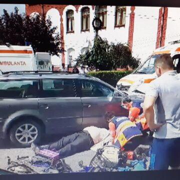 VIDEO | Manevre de prim ajutor la un accident de circulație care a avut loc în Sighet, în zona Big