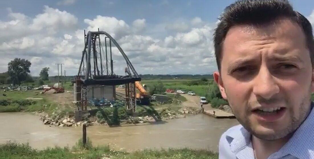 VIDEO | Vlad Duruș, deputat USR, atacă dur administrația publică locală din Ulmeni, din cauza lucrărilor la podul peste Someș