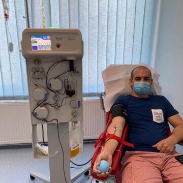 VIDEO   O șansă în plus la viață, oferită la un donator la plasmă