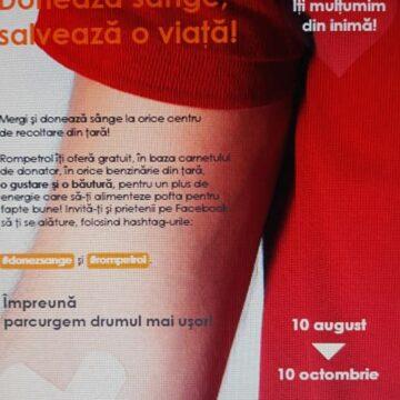 10 august – 10 octombrie 2020 se va desfășura campania de susținere a donării de sânge