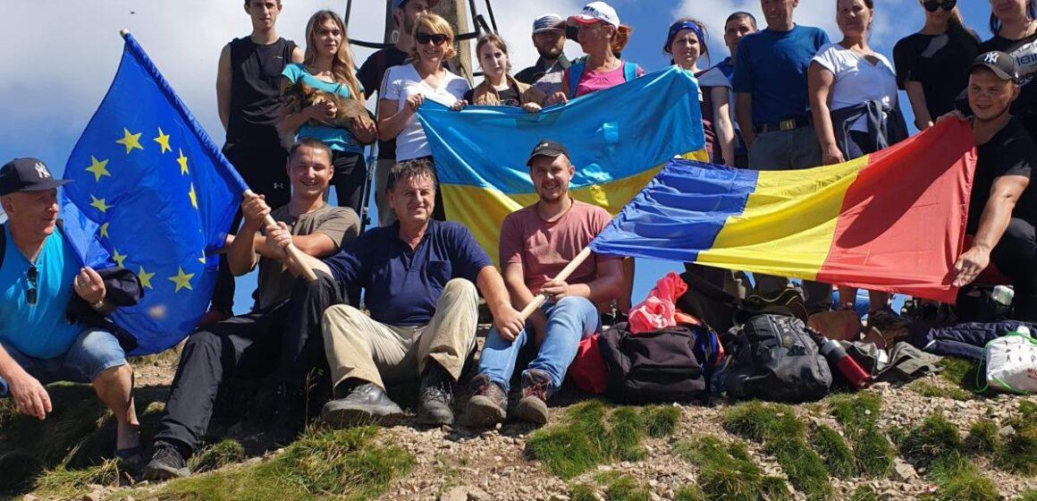 VIDEO | Ziua națională a Ucrainei și Ziua Drapelului, sărbătorite într-un mod inedit