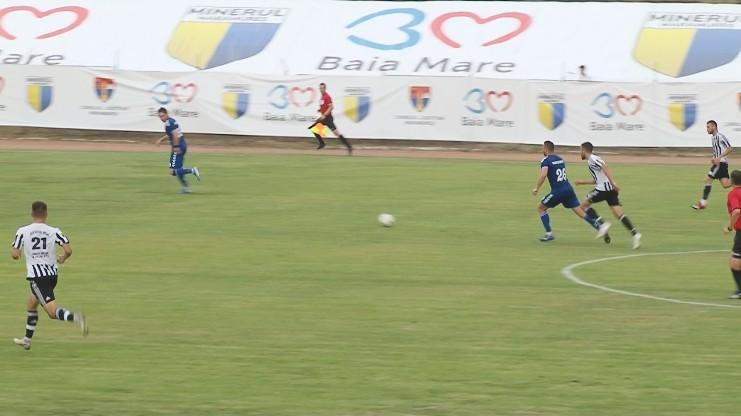VIDEO | Minaur Baia Mare a învins la limită Fotbal Comuna Recea, în meciul tur al barajului pentru promovarea în Liga a II-a, cu scorul de 2-1