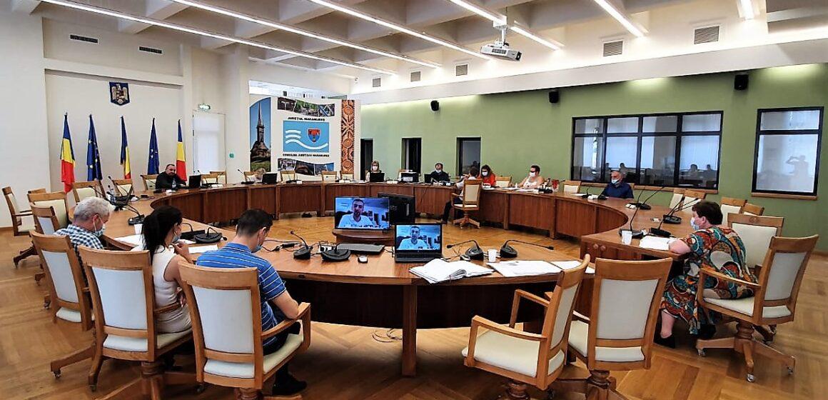 16 proiecte de hotărâre aprobate în ședința ordinară a Consiliului Județean Maramureș din luna iulie