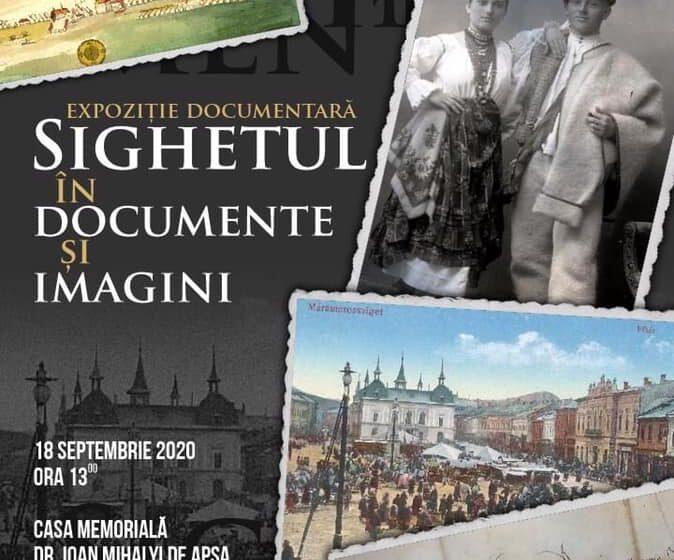 """Vernisaj la muzeul """"Mihalyi de Apșa"""" – expoziție documentară """"Sighetul în documente și imagini"""""""