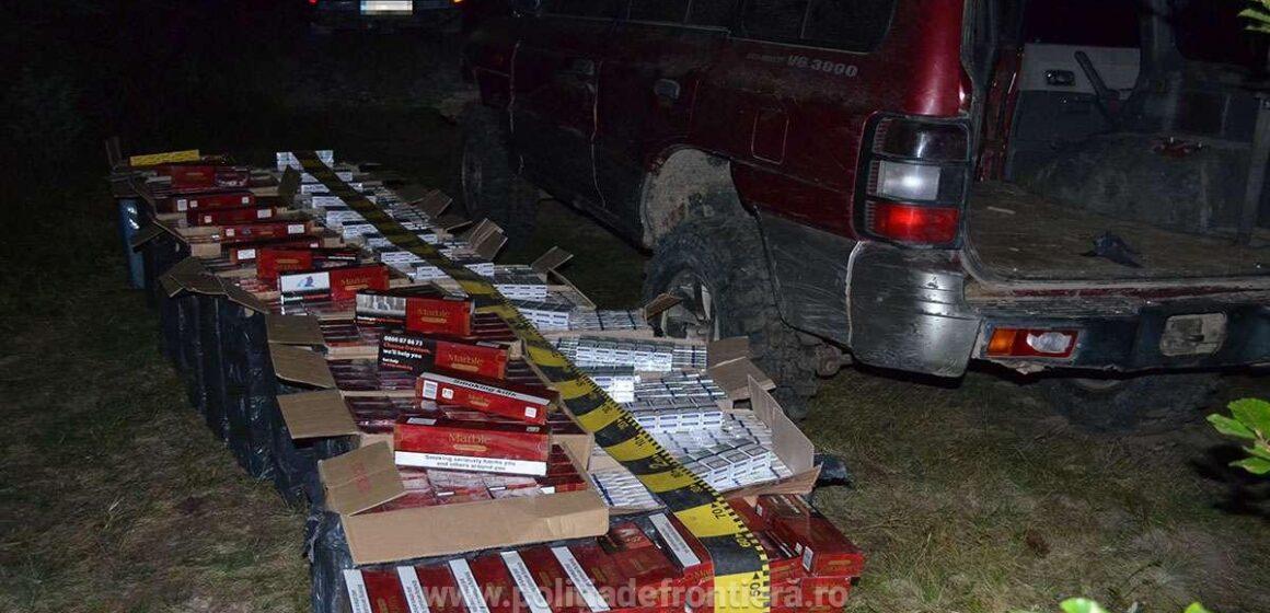 Captură de țigări de contrabandă de peste un sfert de milion de lei