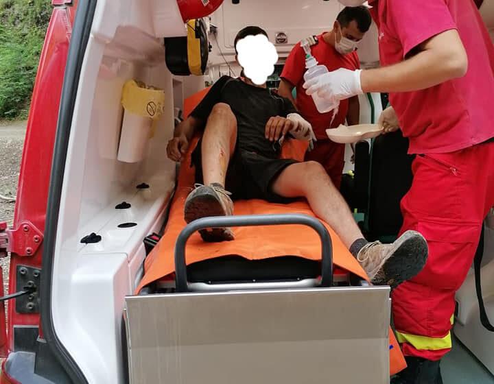 VIDEO | Salvamontiștii maramureșeni au intervenit la un accident petrecut în zona Cavnic