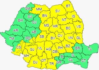 VIDEO | Cod galben de ploi și vânt în județul Maramureș