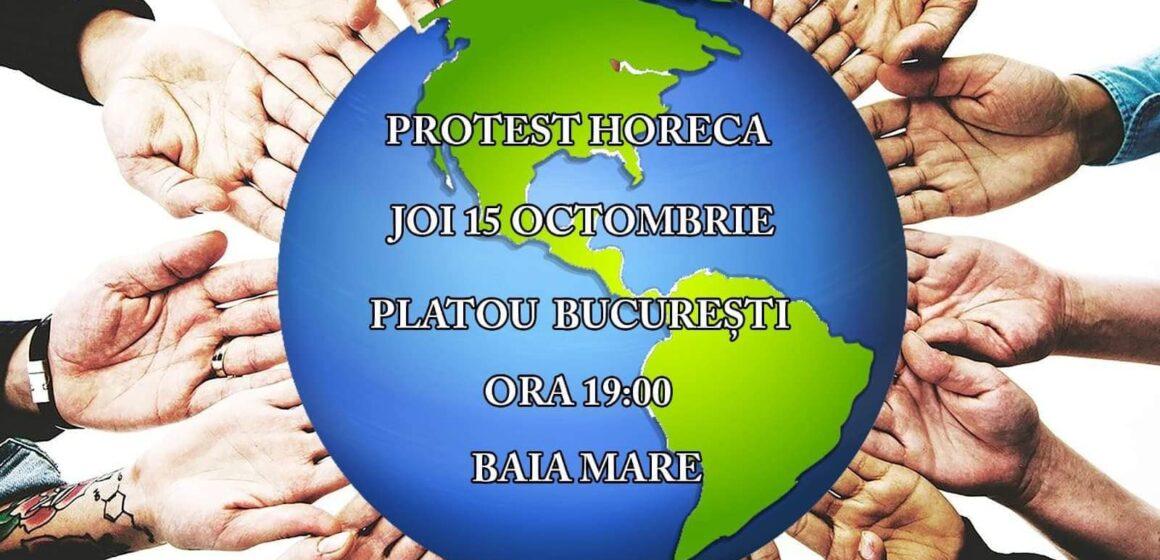 VIDEO | Protest în Baia Mare împotriva închiderii restaurantelor
