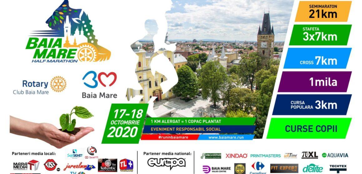 Aleargă la Baia Mare Half Marathon şi Rotary Club Baia Mare va planta un copac pentru fiecare kilometru