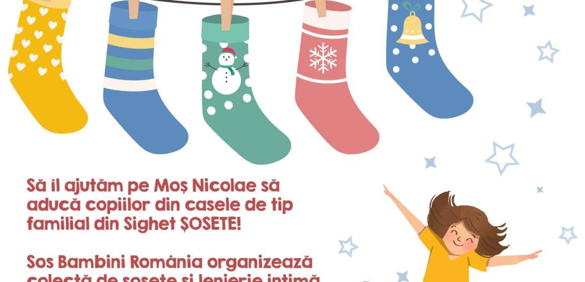 VIDEO | SOS Bambini România organizează o colectă de șosete și lenjerie intimă pentru copiii din sistemul instituționalizat