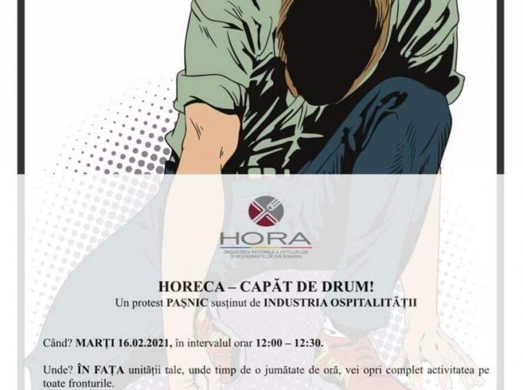 VIDEO | Protest organizat de cei din domeniul HoReCa, ajunși la capătul răbdării