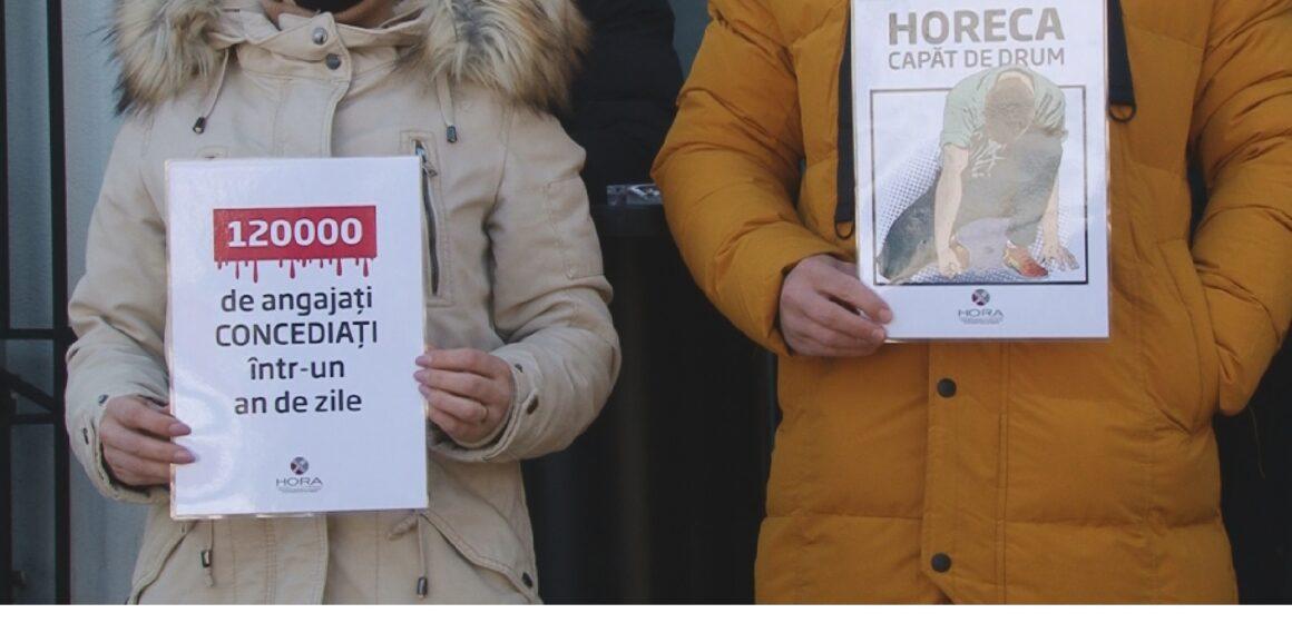 VIDEO | Reprezentanții din industria HoReCa au organizat azi un protest pașnic pentru a semnala problemele grave cu care se confruntă