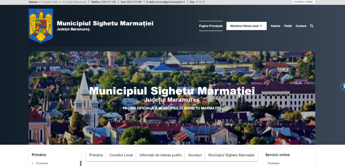 VIDEO   Primăria Sighetu Marmației are site nou