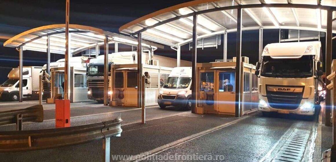 Timpi de aşteptare ridicaţi pe sensul de ieşire din ţară pe arterele destinate traficului de automarfare la granița cu Ungaria