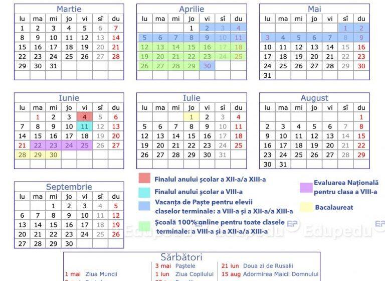 Noua structură a anului școlar a fost publicată în Monitorul Oficial