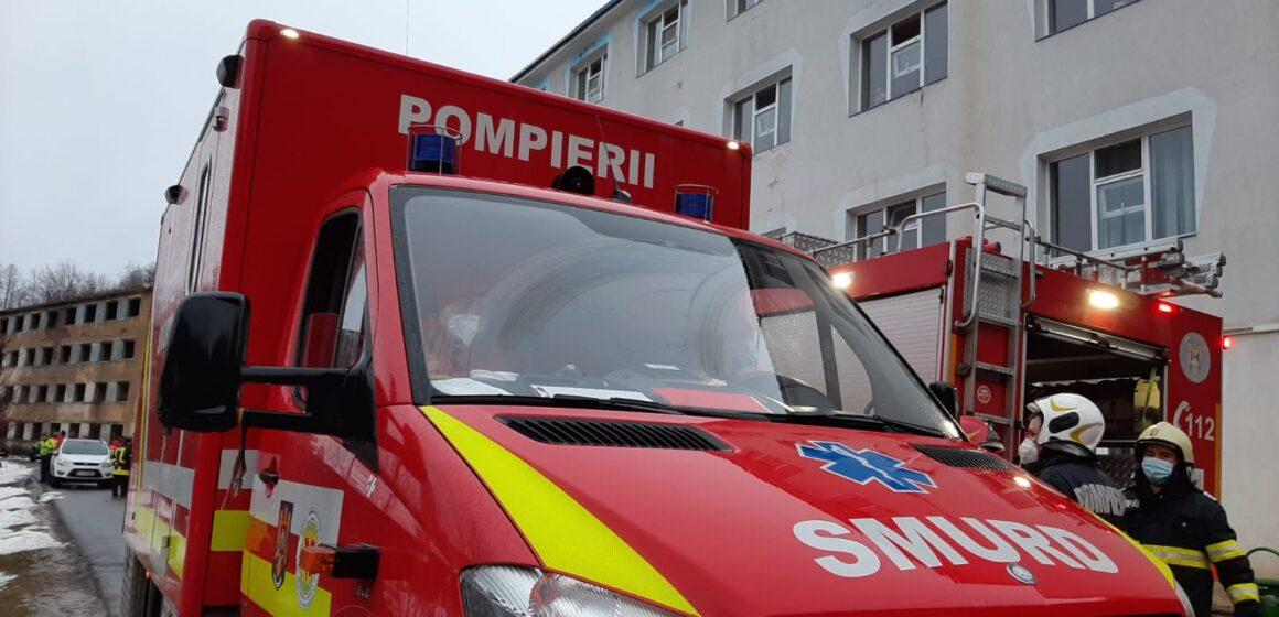 VIDEO | 112 | Incendiu la Spitalul de Psihiatrie din Cavnic