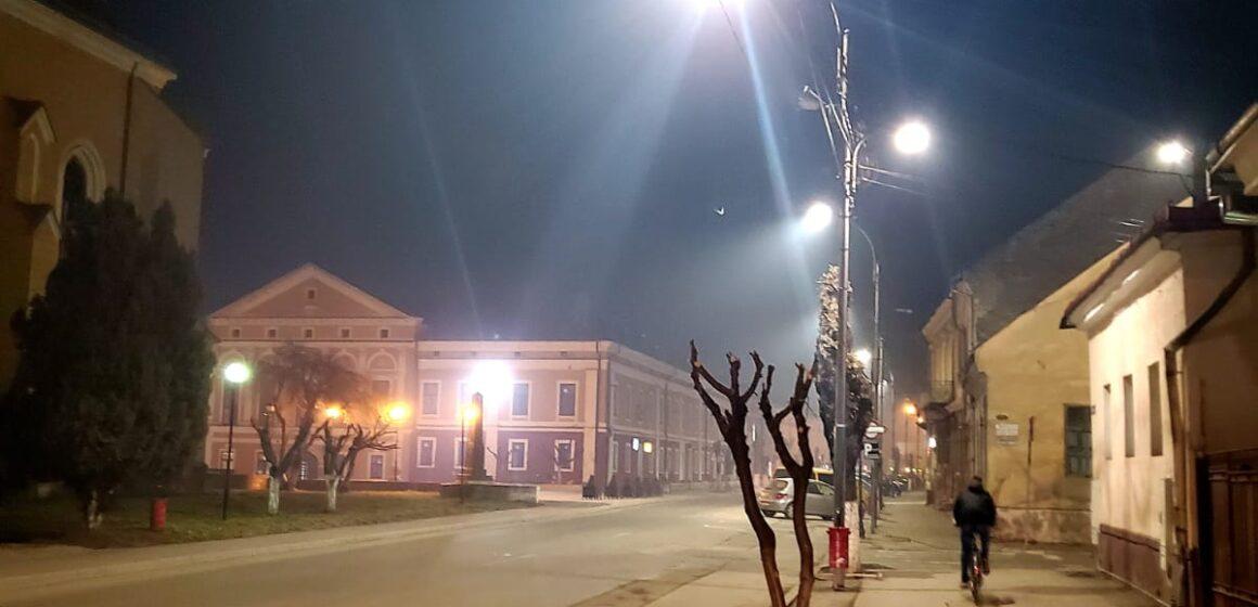 VIDEO | Începe modernizarea iluminatului public în zona centrală din Sighet