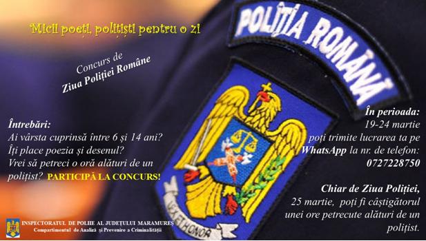 IPJ Maramureș dă startul unui concurs pentru cei mici sub supravegherea celor mari