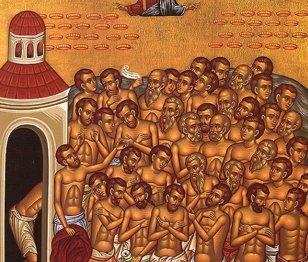 VIDEO | În ziua de 9 martie a fiecărui an sunt prăznuiţi de Biserica Ortodoxă Sfinţii 40 de Mucenici