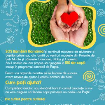 """""""Din suflet pentru suflete"""" – campanie umanitară în sprijinul copiilor din comuna Poienile de sub Munte"""
