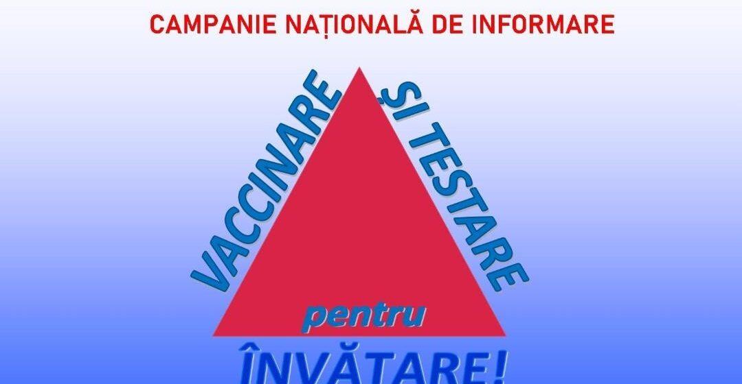 """ISJ Maramureș a lansat campania națională """"Vaccinare și testare pentru învățare!"""""""