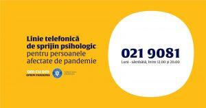 VIDEO | Linie telefonică gratuită de suport psihologic-emoțional pentru persoanele afectate de COVID-19