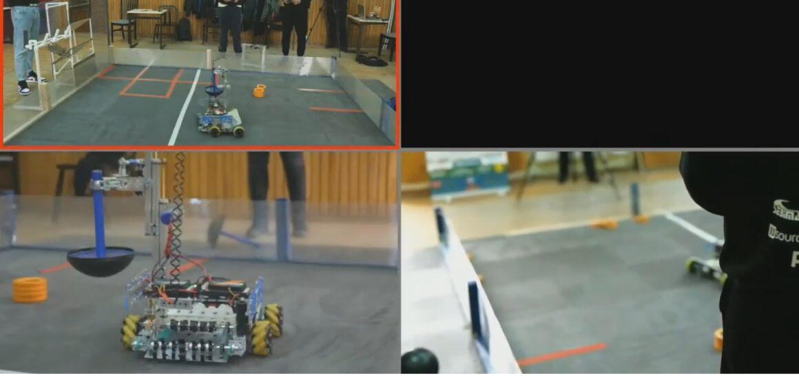 """VIDEO   Echipa Tech-X a construit un robot care """"joacă"""" baschet"""