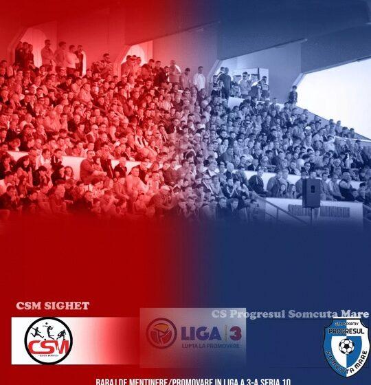 Meciul de duminică dintre CSM Sighet și Progresul Șomcuta Mare va fi primul meci din Maramureș cu spectatori