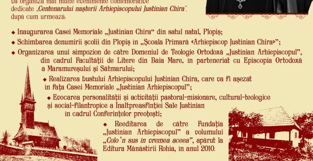 Centenar de la nașterea Arhiepiscopului Justinian Chira