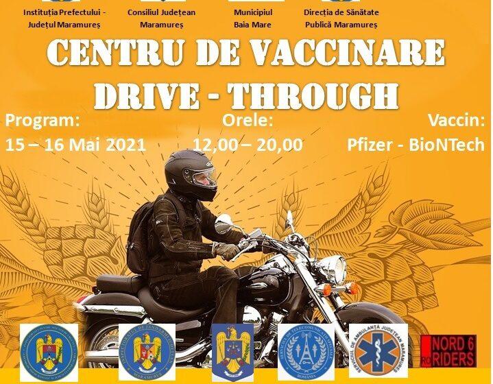Maramureșenii se pot vaccina fără programare la centrul drive-thru amenajat în parcarea Value Centre din Baia Mare