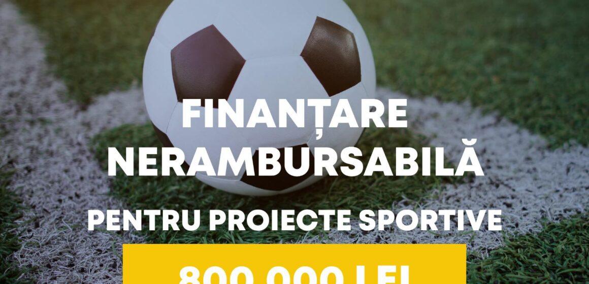 Anunț de participare la finanțare nerambursabilă a proiectelor din domeniul sport pentru ONG-uri