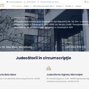 VIDEO | BINE DE ȘTIUT: Tribunalul Maramureş are site