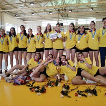 VIDEO | Echipa de volei cadete a Clubului Sportiv Municipal București a reușit să cucerească titlul de campioană a României