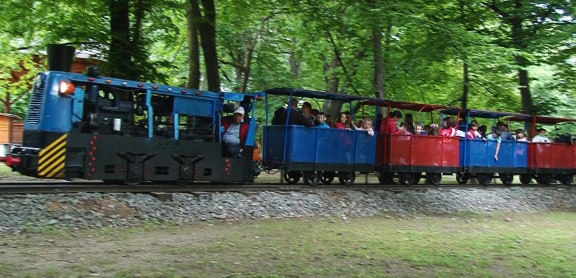 VIDEO   BAIA MARE: Trenulețul din parc, principala atracție a copiilor de 1 iunie