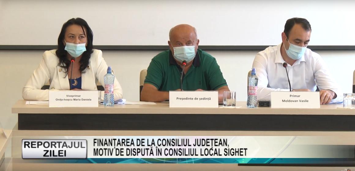 REPORTAJUL ZILEI LA TV SIGHET | Finanțarea de la Consiliul Județean motiv de dispută în Consiliul Local Sighet
