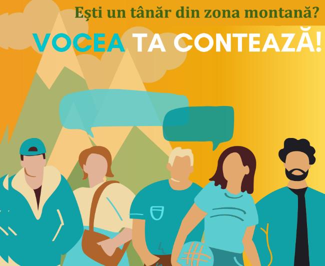Sondaj adresat tinerilor care locuiesc în zona montană
